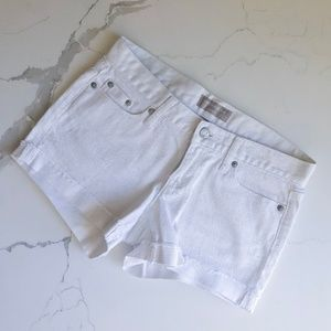 Banana Republic White Denim Shorts - size 25/0P
